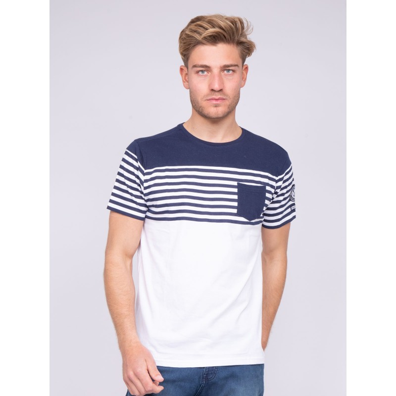 T-shirt col rond pur coton rayures NADADOL
