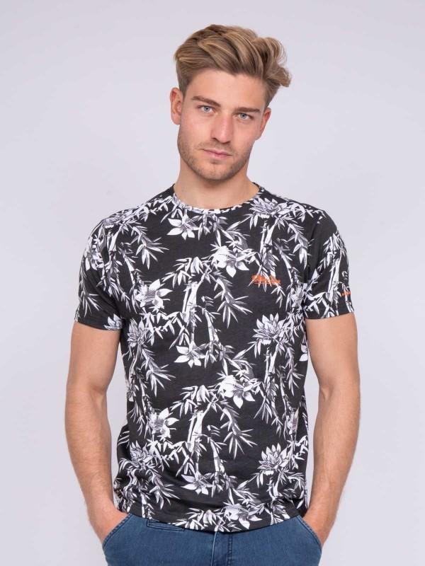 T-shirt col rond pur coton motifs NASCHOOL