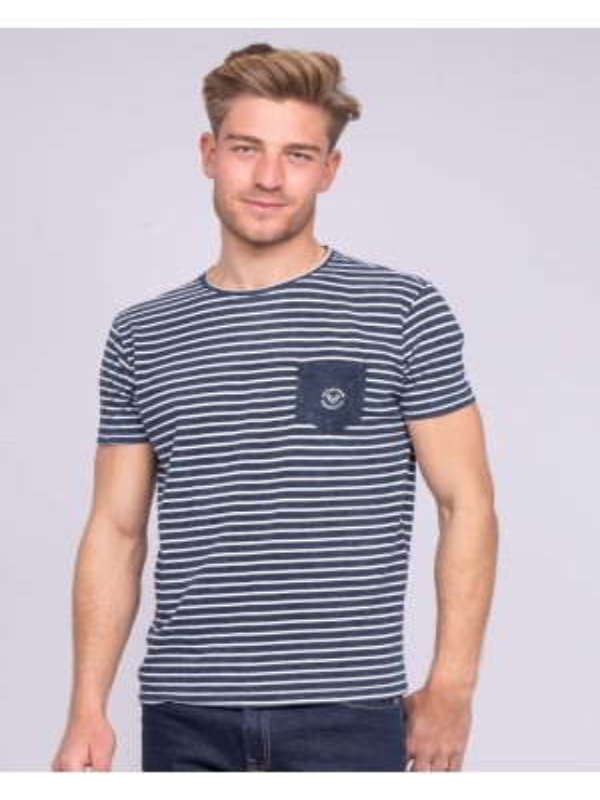 T-shirt col rond pur coton rayures NILOU