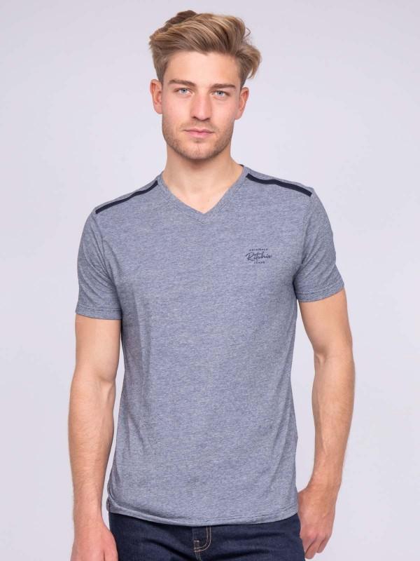 T-shirt col V pur coton NOGLAS