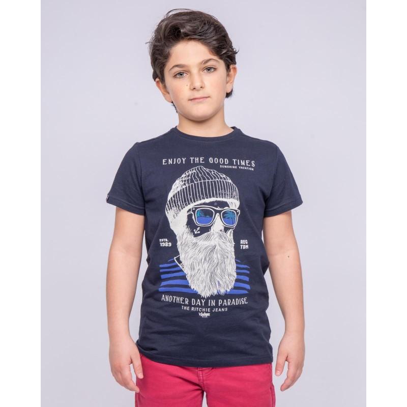 T-shirt col rond pur coton NOBELIX-J
