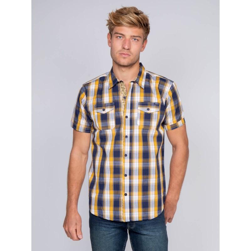 Chemise manches courtes carreaux DELLOW