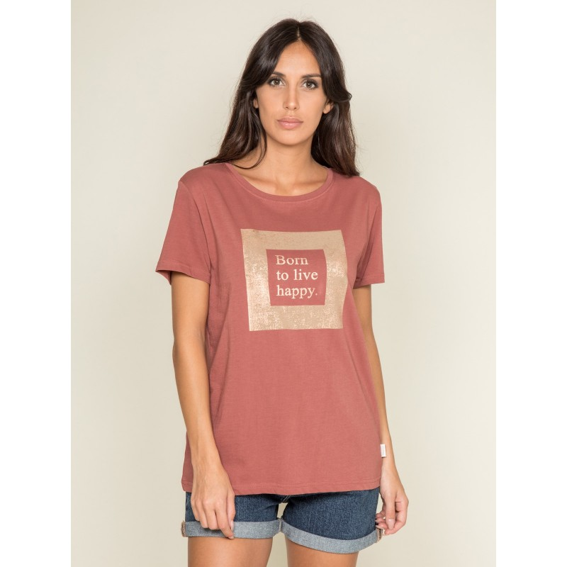T shirt col rond message FLIGNY