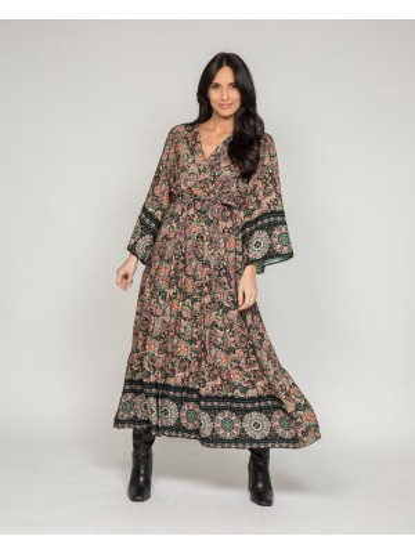Robe longue motifs IZRA
