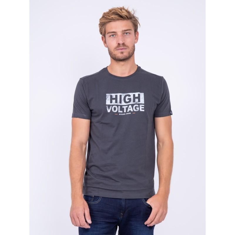T shirt col rond pur coton JATMAN