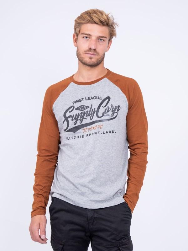 T-shirt manches longues col rond pur coton JANDAT
