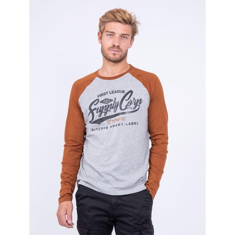 T shirt col rond pur coton JANDAT