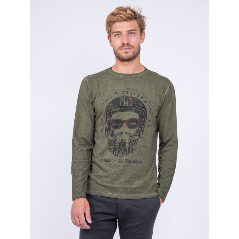 T-shirt manches longues col rond pur coton JUMAPAL